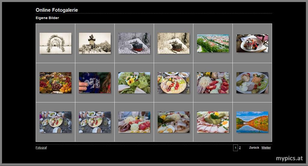 Online Fotogalerien