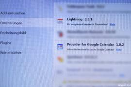Google Kalender Thunderbird