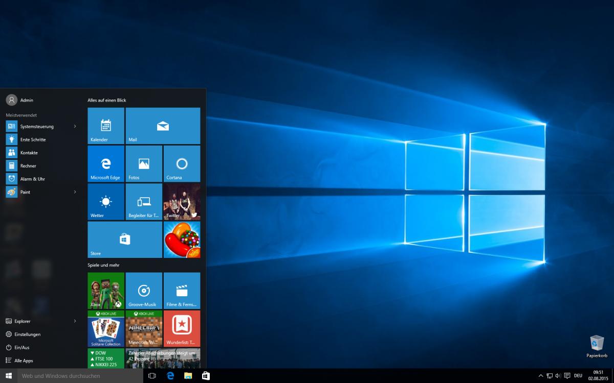 Windows 10 ab Ende Juli kostenpflichtig