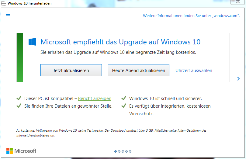 Windows10 herunterladen