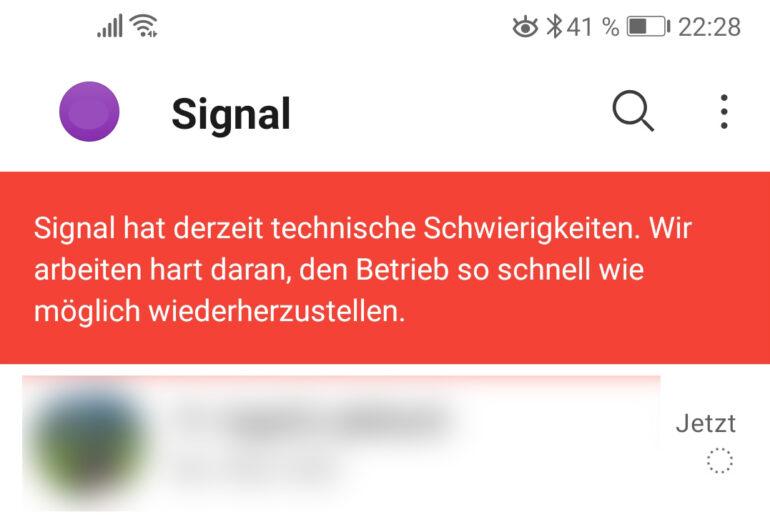Signal technische Störung